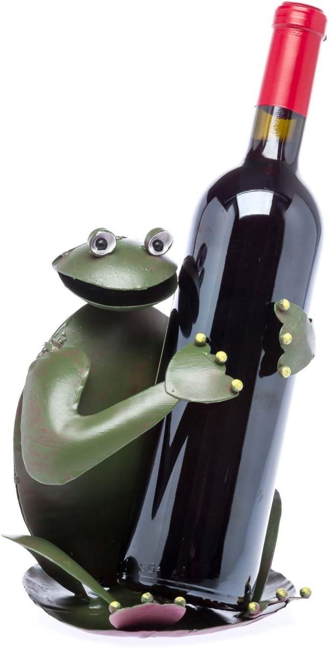 aubaho Porte-Bouteilles Frog Wine Rack Porte-Bouteille de vin Grenouille amphibie vin