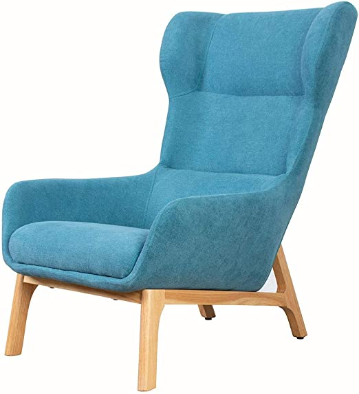 Amazon.com: Upholstery Fabric Wingback Armchair Living Room ...