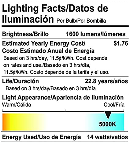Goodlite G-83441 Omni Directional 300 degree 14W 100W Equivalent A19 4100K Dimmable LED Light Bulb, Cool White - - Amazon.com