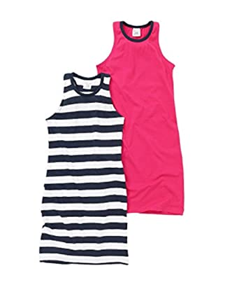 4ea13a2c75a4 Girls Kids Summer Dress 2 Pack Size Age 5 6 7 8 9 10 11 12 13 Jersey ...