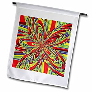 Cassie Peters Abstract - Multi-Color Abstract by Angelandspot - 18 x 27 inch Garden Flag (fl_7674_2)