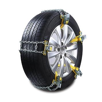 ecmqs - Cubiertas de nieve para coche, cadena de manganeso y acero, antideslizante, 1 pieza Klein metálico: Amazon.es: Hogar