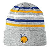 San Francisco Warriors Mitchell & Ness NBA Team Stripes Cuffed Premium Knit Hat