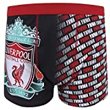 Liverpool FC Official Gift Mens Crest Boxer Shorts YNWA Black Grey Medium