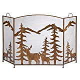 Gifts & Decor Rustic Forest Folding Fireplace Screen For Sale