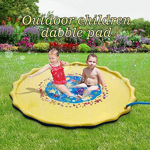 Yu2d  Kids Water Sprinkle and Pad Play Mat Diameter Sprinkle Play Mat]()