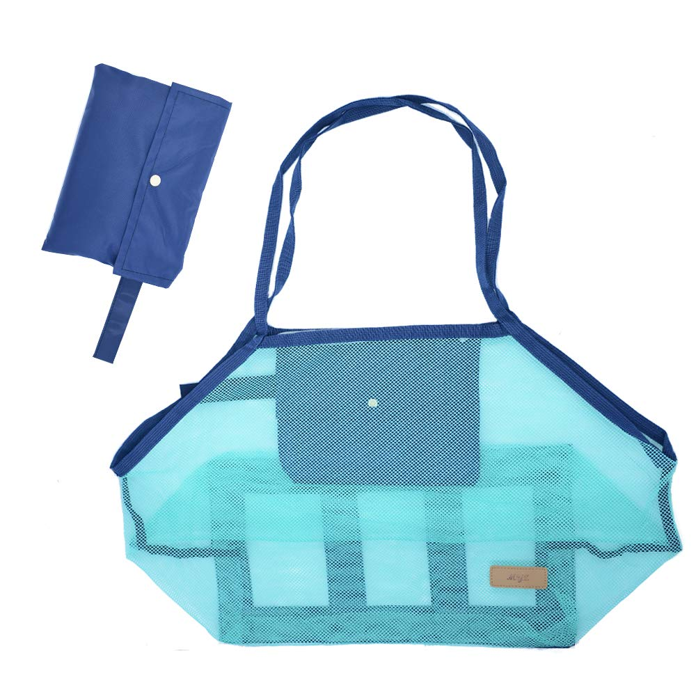 Beach Mesh Tote Bag Beach Toys/Shell Bag Perfect for Holding Childrens' Toys (Xl Size)
