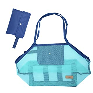 Beach Mesh Tote Bag Toys Beach Bag Perfect for Holding Childrens' Toys (Xl Size) Upgrade
