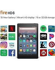 "Certified Refurbished Fire HD 8 Tablet (8"" HD Display, 16 GB) - Black"