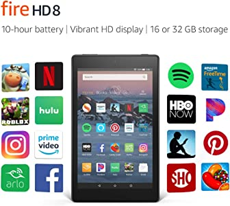"Certified Refurbished Fire HD 8 Tablet (8"" HD Display, 32 GB) - Black (Previous Generation - 8th)"