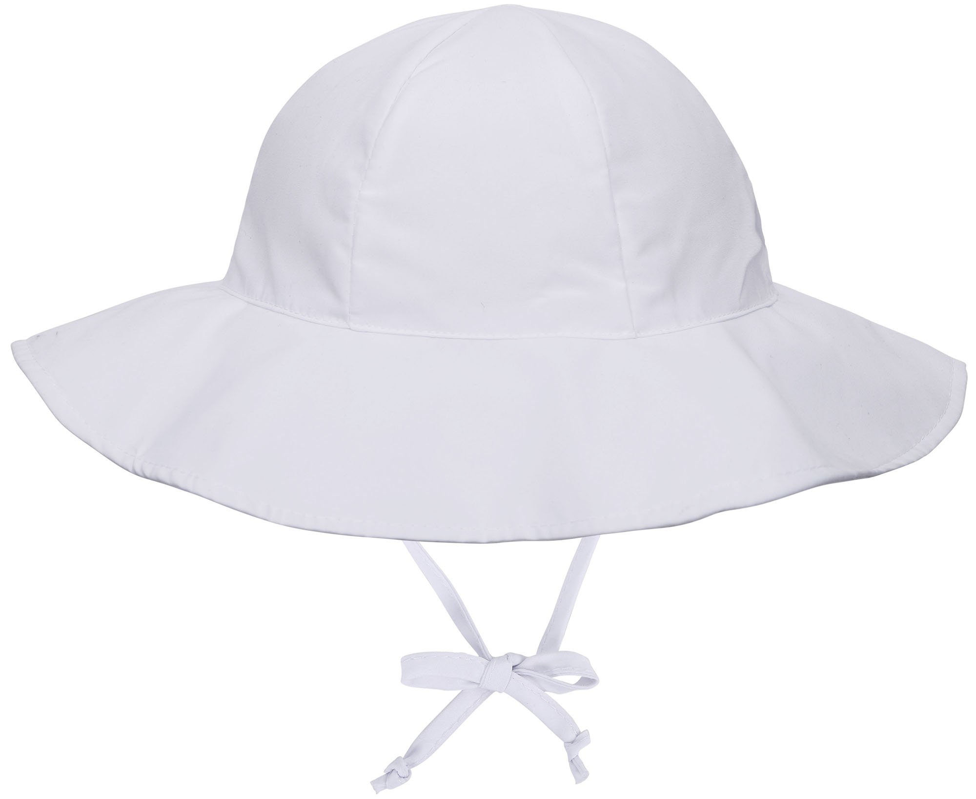 ThunderCloud Kids 50+ UPF Protective Wide Brim Sun Hat,White,0-12 Months