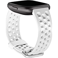 Fitbit Versa 2,sport band,frost white,large, 0.11 Pound