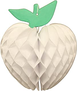 product image for 3-Pack 7 Inch Honeycomb Paper Apple Decoration, White