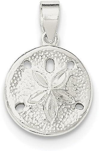 Lex /& Lu Sterling Silver Polished Sand Dollar Charm