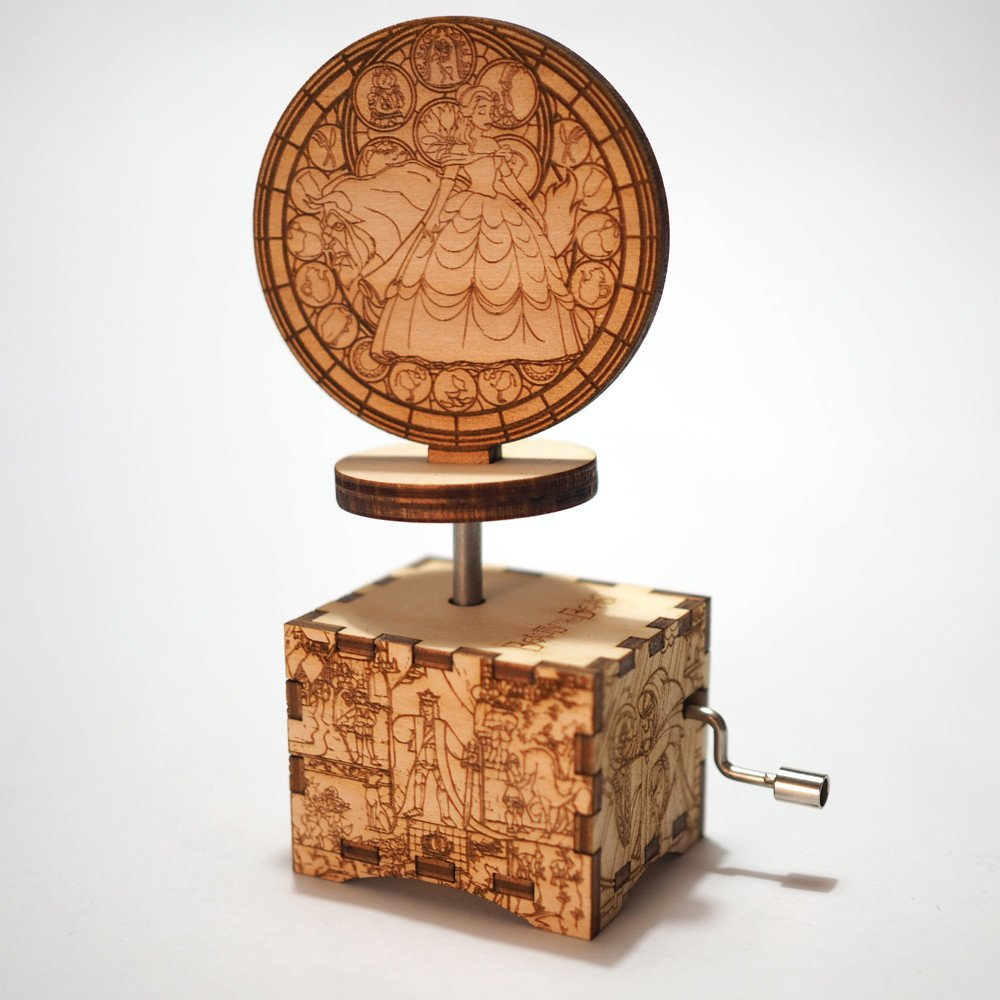 Beauty and the Beast Music Box - Tale as old as time - Laser cut and laser engraved wood music box. Perfect gift, memorabilia or collectible