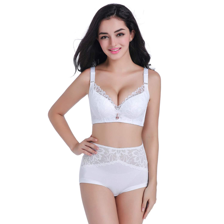 281bfaefa28 Lace Lingerie Set Plus Size Push Up Lace Intimate Women Underwear Bra Set  Bra Brief at Amazon Women s Clothing store