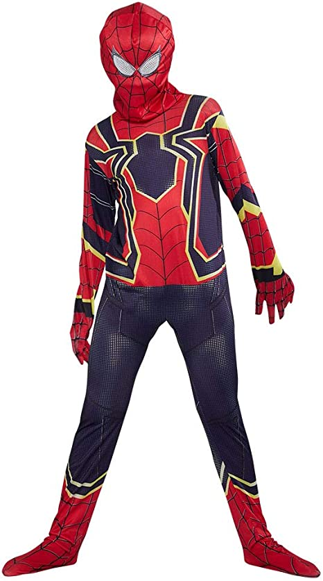 URAQT Disfraz de Spiderman, Halloween Mono de Superheroe de ...