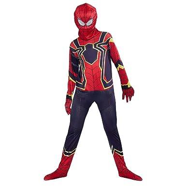 URAQT Disfraz de Spiderman, Halloween Mono de Superheroe de Cosplay, Disfraces de superhéroe para niños Spiderman, para Disfraces de Halloween