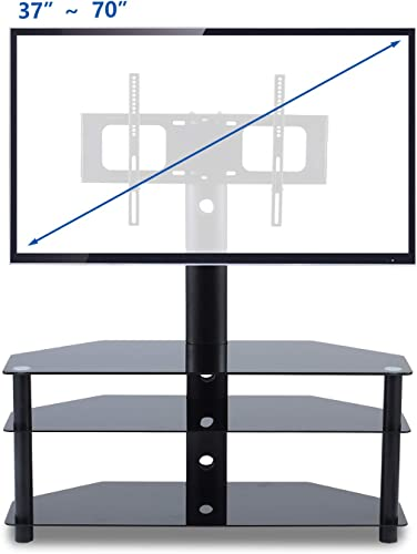TAVR TV Stand with Swivel Mount 3-in-1 Flat Panel Stand for Most 37-70 inch Plasma LCD LED Flat Curved Screen TVs,VESA Patterns up to 600mmx 400mm