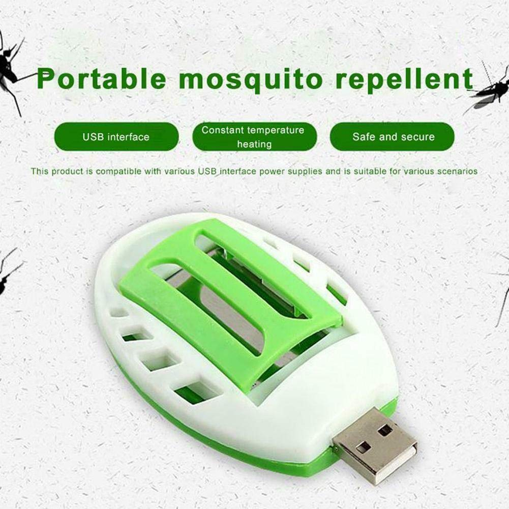 30 pcs Mosquito repellent tablets JinYiZhaoMing Portable USB Electric Mosquito Repellent Killer Mosquito Incense Heater Fly Insects Bug Zapper for Office Home Car Travel Outdoor Camping