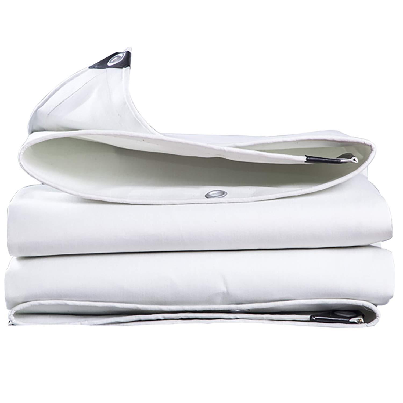 防水防水布28ミルの厚い雨カバードロップ布キャンプテント - キャンプバックグラウンドカバーのバックパッキングに最適 (色 : 白, サイズ さいず : 18x18ft/6x6m) B07RKR2NZS 白 18x18ft/6x6m