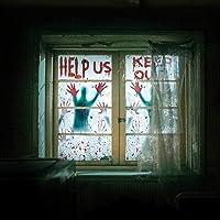 Pangzi Halloween - 2 piezas de silueta de ventana, 76,2 x 152,4 cm gigante espeluznante adhesivo para ventana, ventana…
