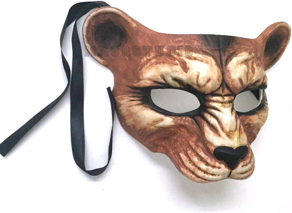 BZ621A 7N12 Animal Print Eye Mask Masquerade LeopardIvory Costume Party Prom Halloween  SKU
