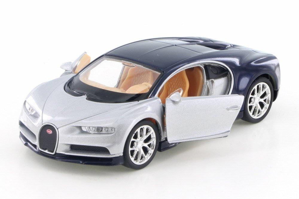 Amazon.com: Bugatti Chiron, Plata W/Negro – Welly 43738d ...