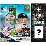 Jacoby Ellsbury - New York Yankees: MLB x OYO Sportstoys Minifigure Series + 1 FREE Official MLB Trading Card Bundle