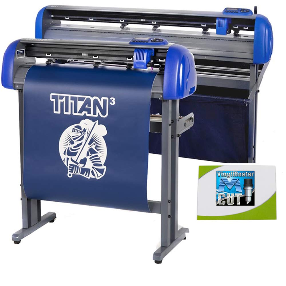 USCutter 28'' Titan 3 Vinyl Cutter with Servo Motor & ARMS Contour Cutting Plus Design/Cut Software by USCutter