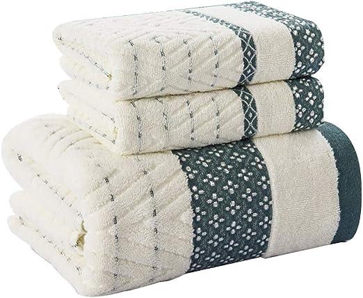Juegos de toallas Juego de toallas Pack-3 (1 toalla de baño y 2 ...