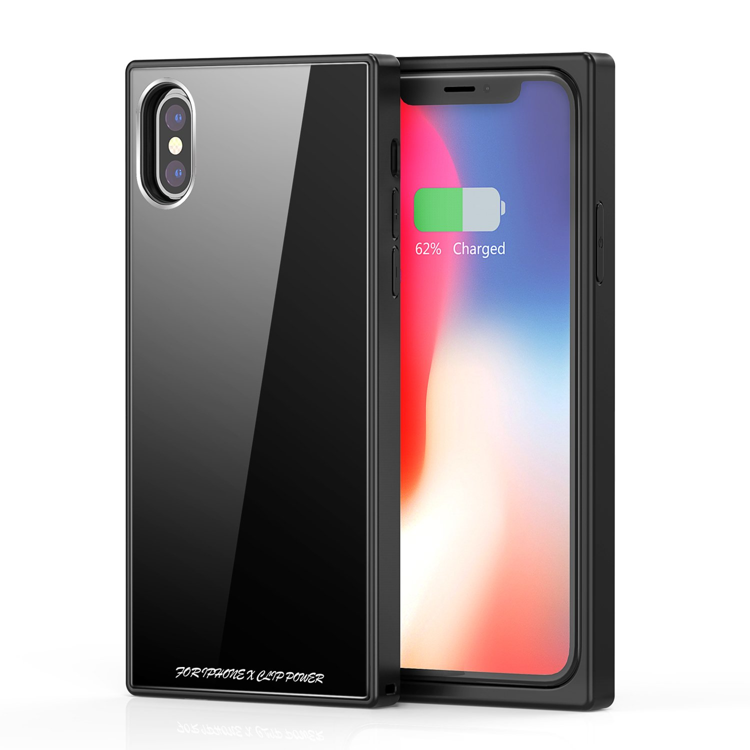 iPhone X Battery Case, Vodool 3200mAh Capacity Ultra Slim Extended Battery Rechargeable Protective Backup Portable Charger 5.8'' (Black)