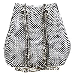 Sparkly Rhinestone Triangle Designer Chain Bag