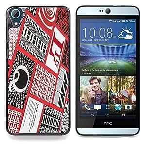 "Planetar ( Indian Dream Catcher Lobo Blanco Nativo"" ) HTC Desire 826 Fundas Cover Cubre Hard Case Cover"