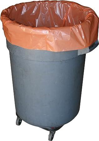 Amazon.com: 56 Galón Naranja Heavy Duty Bolsas de basura ...