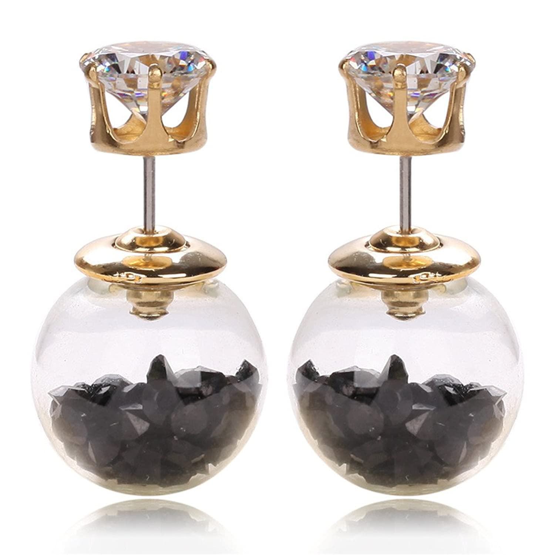 1ee349fe19d7 Envio gratis Dana Carrie La chica oreja aretes de uñas con bola de cristal  de zircón