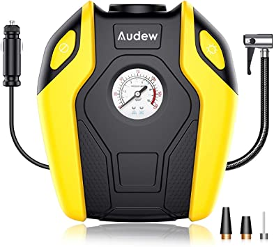 12V DC Tire Inflator Audew Portable Air Compressor Pump 150 PSI Tire Pump for Car Bicycle Truck RV and Other Inflatables