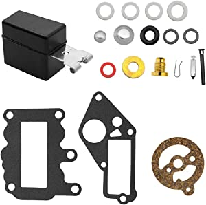 Yomoly 382048 Carburetor Rebuild Kit Compatible with Johnson Evinrude Outboard 9.5 HP 1964-1973 Carb Repair w/Float