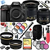 Nikon D7500 20.9MP DX-Format Ultra HD DSLR Camera with AF-P DX 10-20mm VR & AF-S DX 40mm Lenses Plus Free Online Photography Courses and Deluxe 64GB Accessories Bundle