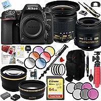 Nikon D7500 Black Digital SLR Camera with 18-140mm VR & 70-300mm f/4-5.6 SLD DG Macro Telephoto Lens + Accessory Bundle (2 Lens Kit 10-20mm VR & 40mm)