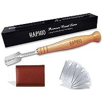 Hapmio Bread Lame, Premium Long Handle Design Bread Scoring Tool, Hand Crafted Dough Scoring Tool for Scoring Sourdough…