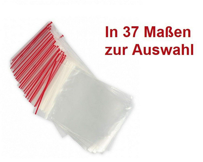 HUGBERT Druckverschlussbeutel ECO 40x60 mm 100 St/ück in 37 Gr/ö/ßen Plastikt/üten mit Verschluss Folienbeutel