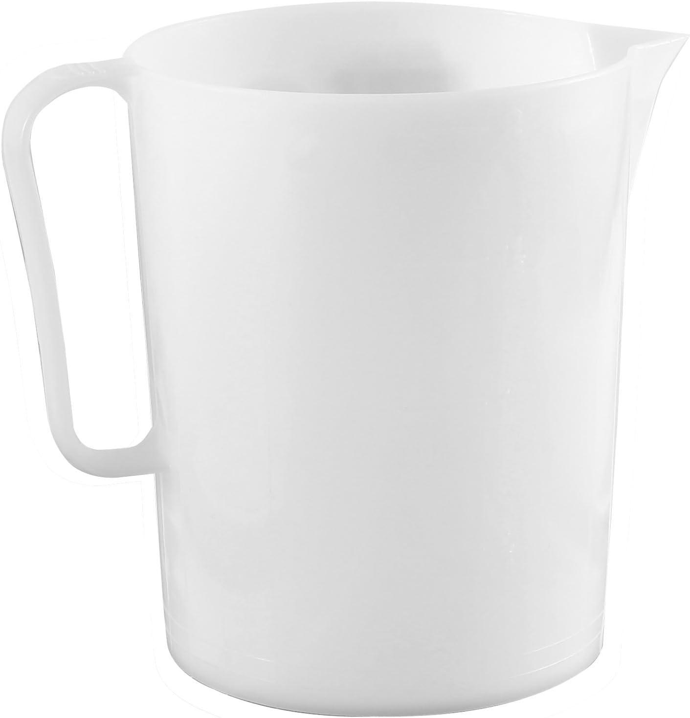 Giganplast Gig Jarra medidora, 4L, Polietileno, Color Blanco