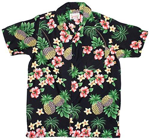 ragstock-mens-floral-pineapple-palm-tree-print-hawaiian-aloha-shirt-black-medium