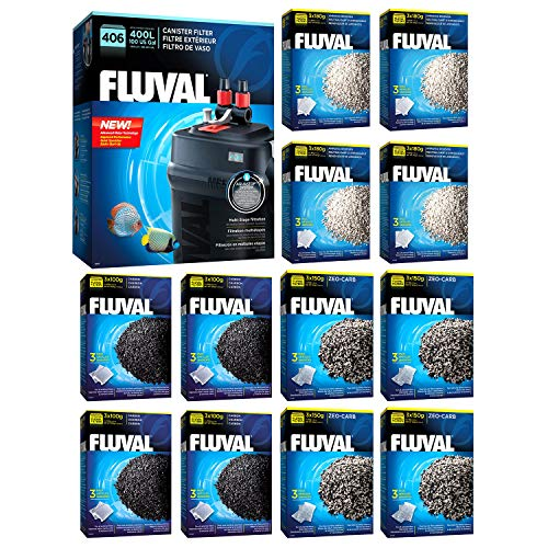 Fluval 406 A217 Filter w/Carbon, Ammonia Remover & Zeo-Carb -
