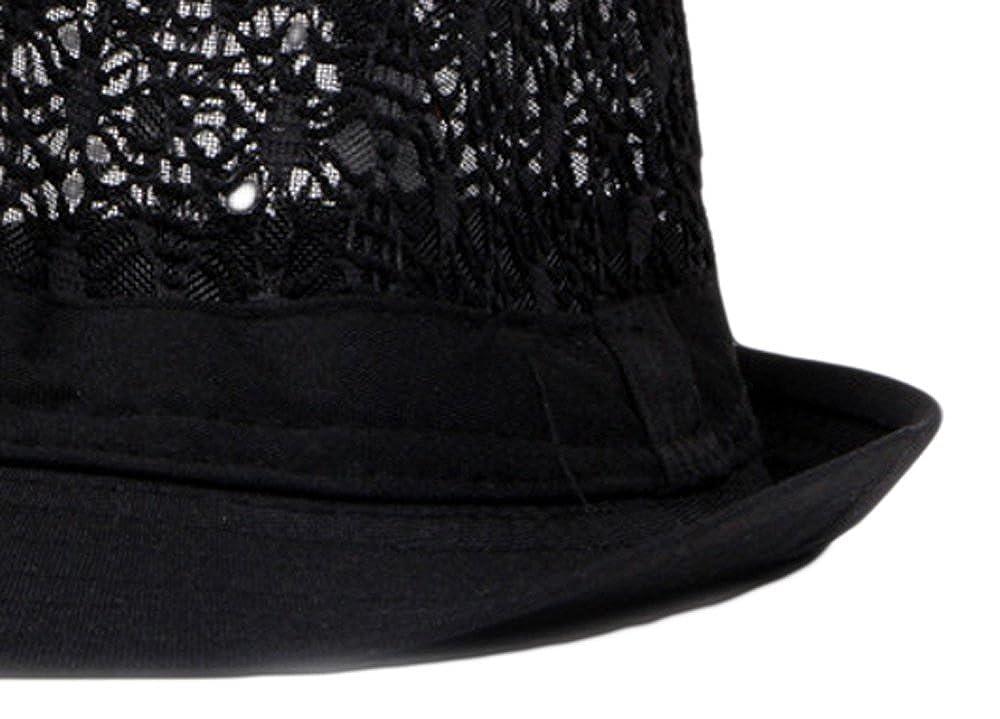 87bf5f95 Qunson Women's Eyelet Summer Short Brim Trilby Fedora Hat at Amazon Women's  Clothing store: