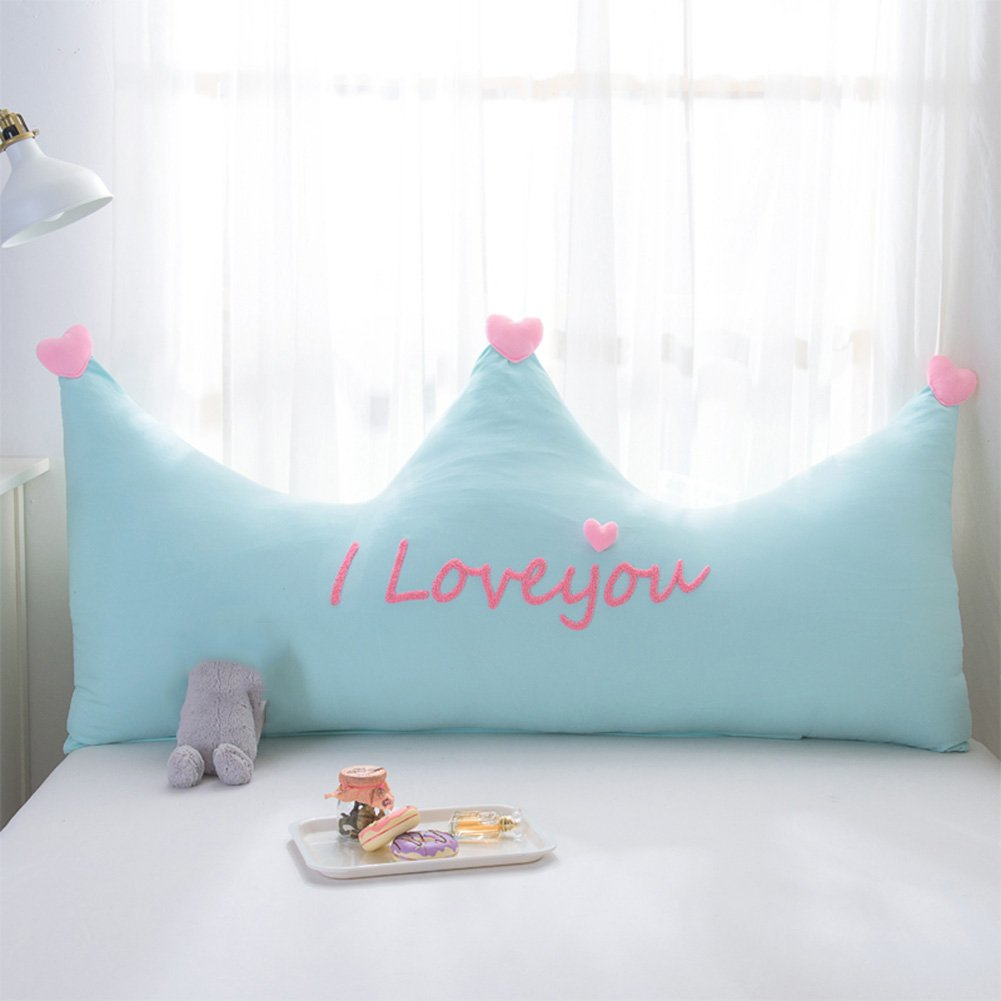 QIANGDA Bed Backrest/headboard Cushion Cute Soft Pillow Cotton Filling Detachable And Washable, 5 Styles, 3 Sizes Optional (Color : 5#, Size : 180 x 80cm)