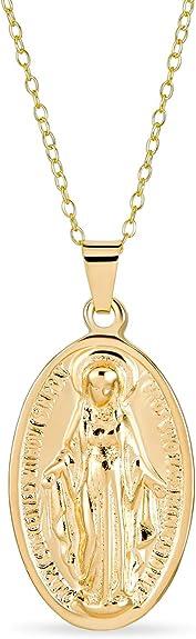 Sterling Argent Notre Dame de toutes les nations médaille pendentif 3//4 Pouces