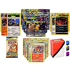 Product Includes:  ⭐ 1 GX Card ⭐ 1 Pokemon Booster Pack ⭐ 5 Rare Cards  ⭐ 5 Holo or Reverse Holo Cards ⭐ 20 Common or Uncommon Cards ⭐ 1 Random Totem Deck Box IMPORTANT: Your lot might contain cards from one of the pictures, but the ph...