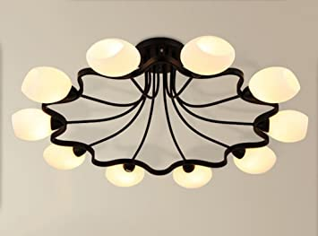 LED retro hierro forjado 4/6/8/10 faro lámpara de techo ...
